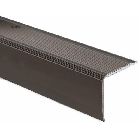 Stufenkantenprofil Integral | K234 | Form: L | 35x30 mm | Länge: 90 cm | Selbstklebend | Bronze