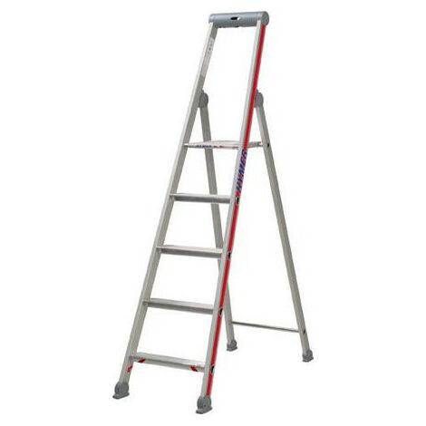 Stufenstehleiter Plattf. eins. 6 Stufen AH 285m