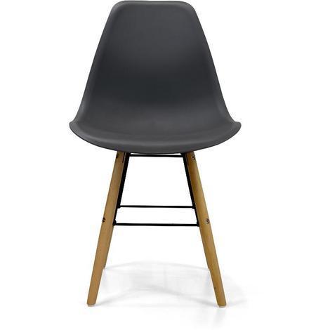 Stuhl Holzbeine Aus Harz Grau Vega 8054633418734
