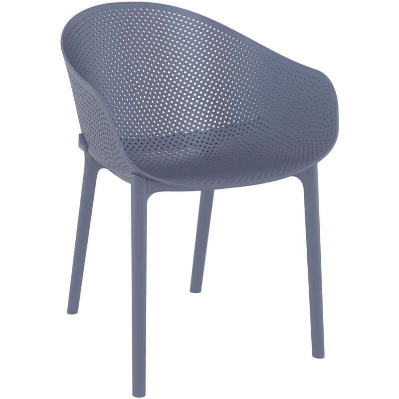 Design Stuhl MAYA weiß Stapelstuhl Besucherstuhl Esszimmerstuhl