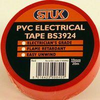 STUK Electrical Tape Red 20m