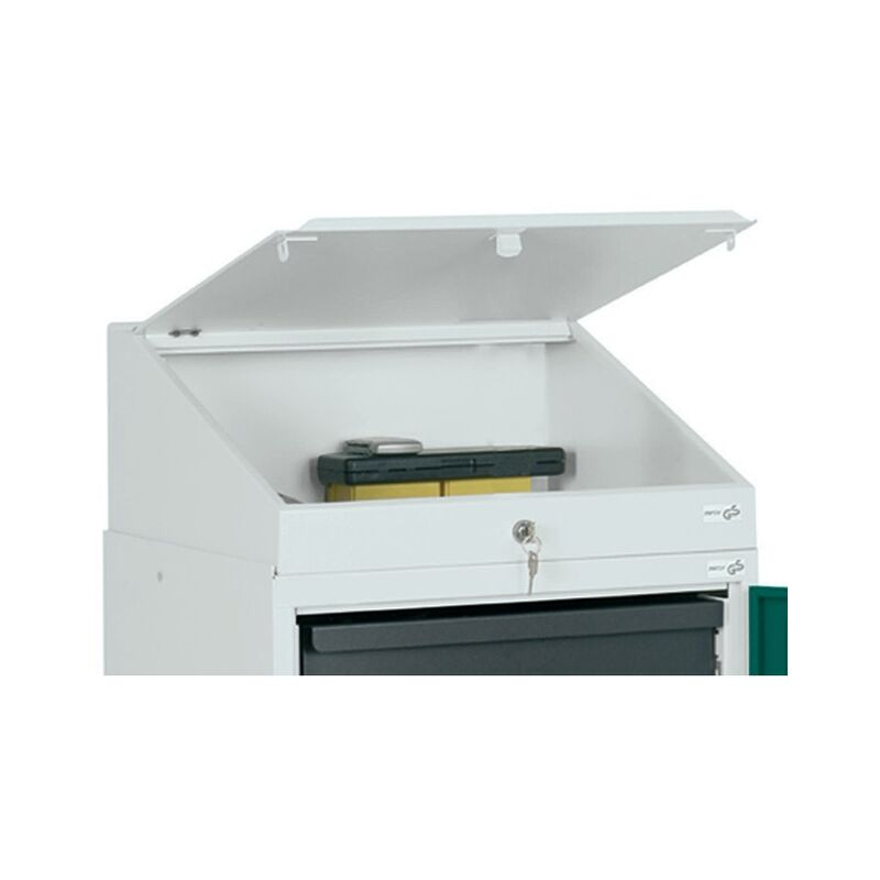 Pupitre rapporté H272/91xl500xP500mm gris clair, RAL 7035 - STUMPF METALL