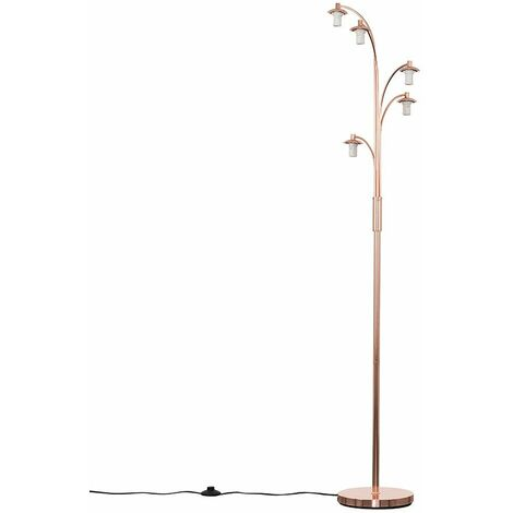 Style 5 Way Copper Floor Lamp Base