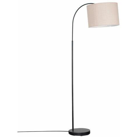 Style Black Curved Stem Floor Lamp - Beige - Black