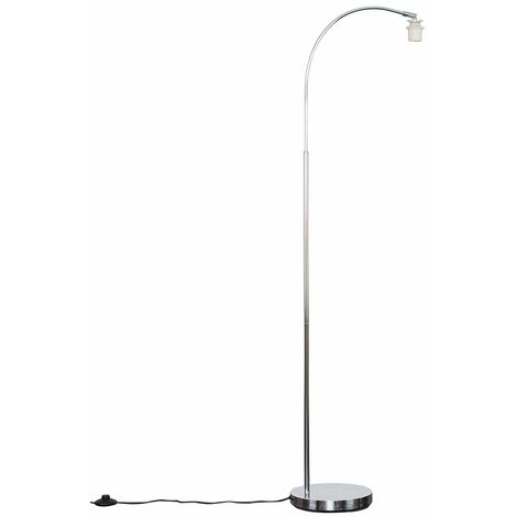 Style Chrome Curved Floor Lamp Base - Silver