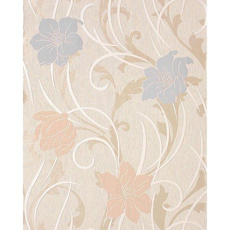 Style flower floral wallpaper wall EDEM 111-33 cream beige light pink light violet pearl 5.33 sqm (57 sq ft)