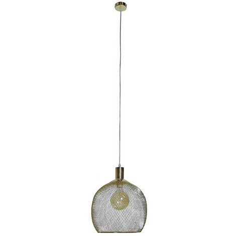 Stylish Mesh Gold Effect Ceiling Pendant Pendant - No Bulb
