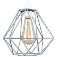 Style Grey Metal Basket Cage Ceiling Pendant Light Shade