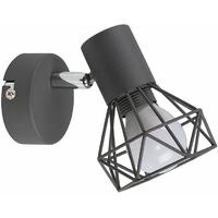 Style Metal Basket Cage Wall Light Fitting in a Matt Black Finish