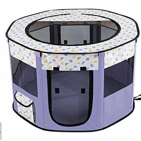 Style Parc Chien Parc à Chiot Enclos pour Chiens Chats Lapins Pliable Utiliser à l'intérieur et à l'extérieur .