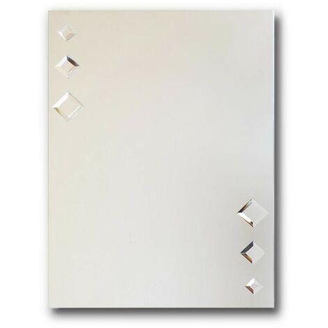 Style Rectangular Mirror with Diamond Beads 500mm x 700mm