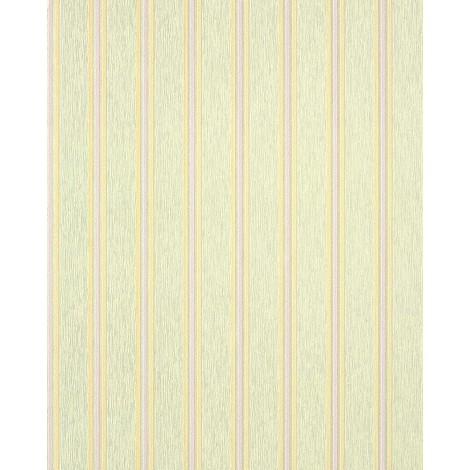Style striped vinyl wallpaper wall EDEM 112-35 light green saffron yellow light purple silver grey 5.33 sqm (57 sq ft)