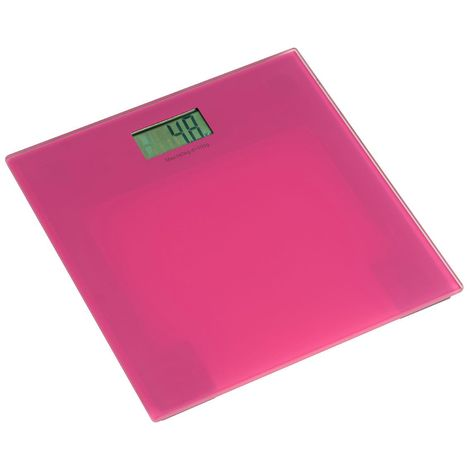 Stylish Bathroom Scale,Pink Tempered Glass