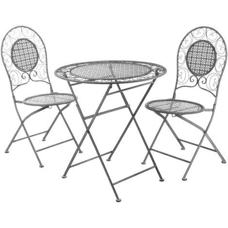 Stylish finchwood jardin 3piece grey table set,wrought iron