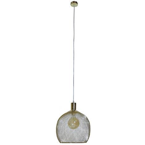 "main image of ""Stylish Mesh Gold Effect Ceiling Pendant Pendant - Add LED Bulb"""
