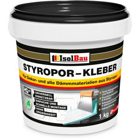 Styroporkleber 1 kg Renoviervlies Dispersionkleber Polymerbasis Schneeweiß