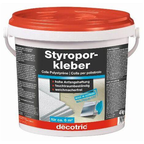 Styroporkleber 4kg, Eimergebrauchsfertig decotric 4007955011026 Inhalt: 1