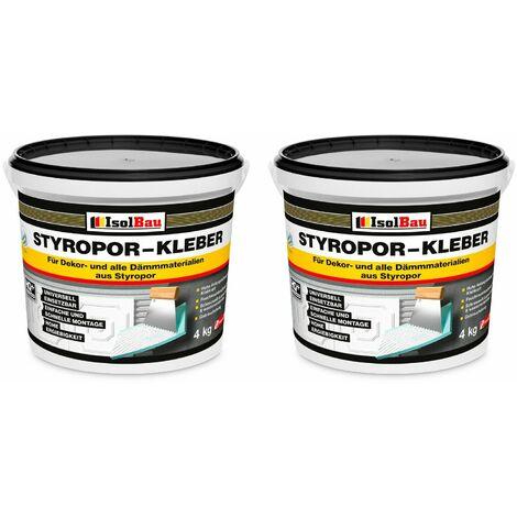 Styroporkleber 8 kg Renoviervlies Dispersionkleber Polymerbasis Schneeweiß