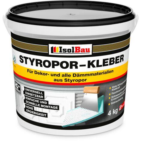 Styroporkleber Styropor- und Renoviervlieskleber 4 kg Deckenplatten Kleber