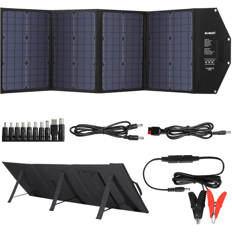 suaoki 100w solar handy ladeger t faltbar solarpanels outdoor solar charger bag 447086201. Black Bedroom Furniture Sets. Home Design Ideas