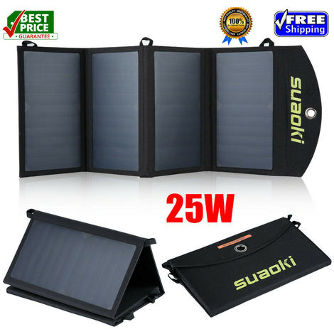 Suaoki 25W / 7W Foldable Dual-Port Solar Pannel Charger