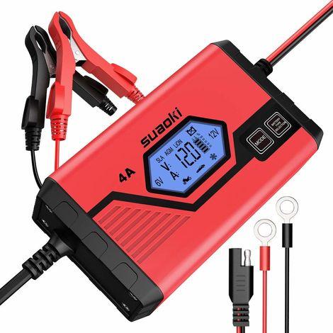 4A 6V 12V LiFePO4 chargeur de batterie automatique rechargeable chargeur intelligent intelligent mainteneur