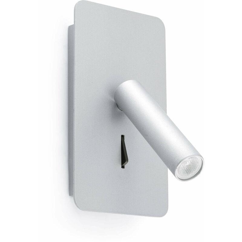 LED Wandleuchte Suau aus Aluminium in Silber