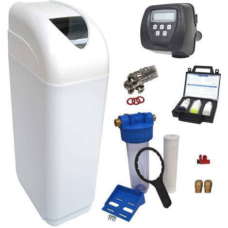 Suavizador de agua 30L Clack WS1 completo con prefiltración y accesorios de montaje
