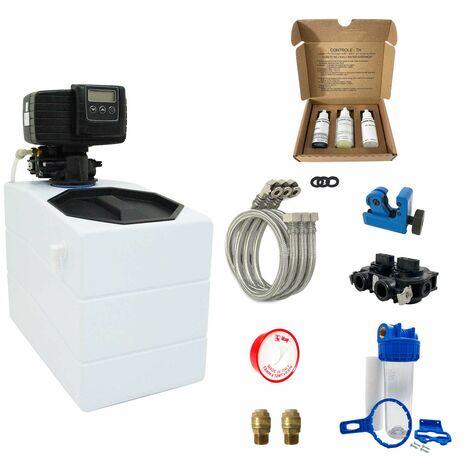 Suavizador de agua 4L Fleck 5600 SXT completo con prefiltraci—n y accesorios de montaje