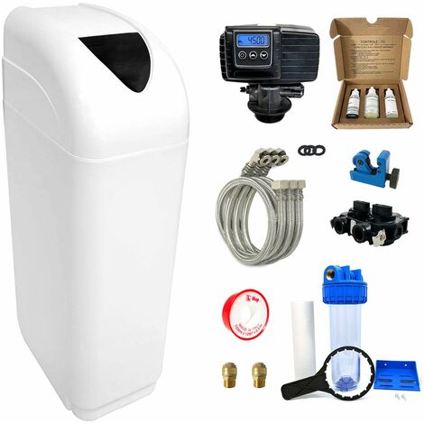 Suavizador de agua 8L Fleck 5600 SXT completo con prefiltraci—n y accesorios de montaje