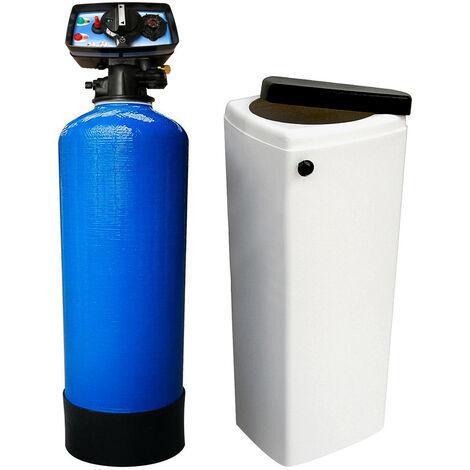 Suavizador de agua bi-bloque 25L Fleck 5600 MC válvula cronométrica mecánica