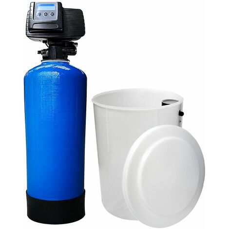 Suavizador de agua bi-bloque 50L Fleck 5600 SXT válvula volumétrica electrónica
