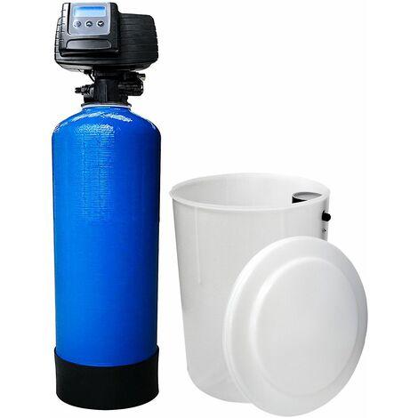 Suavizador de agua bi-bloque 75L Fleck 5600 SXT válvula volumétrica electrónica