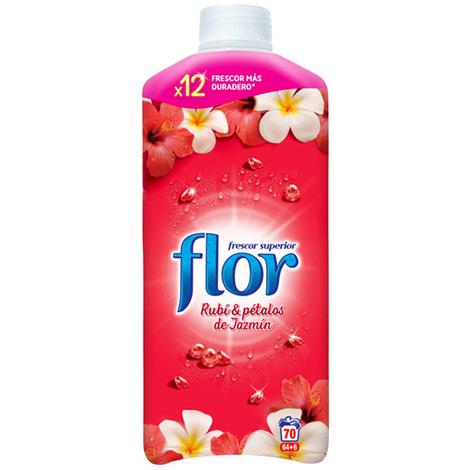 Suavizante Concentrado Flor Red Rubí & Pétalos de Jazmín 1,5 L (70 Dosis)
