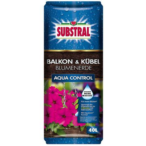 SUBSTRAL® Balkon & Kübel Blumenerde Aqua Control 40 Liter