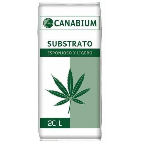 Substrato CANABIUM esponjoso y ligero para plantas cannabis - 20L
