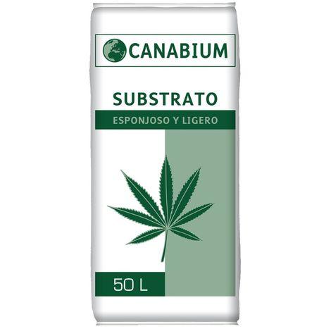 Substrato CANABIUM Esponjoso y Ligero para Plantas Cannabis - 50L