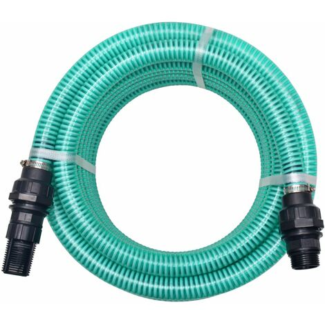 Suction Hose with Connectors 10 m 22 mm Green