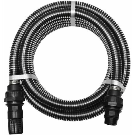Suction Hose with Connectors 4 m 22 mm Black