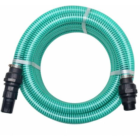 Suction Hose with Connectors 4 m 22 mm Green