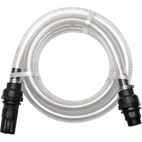 Suction Hose with Connectors 7 m 22 mm White