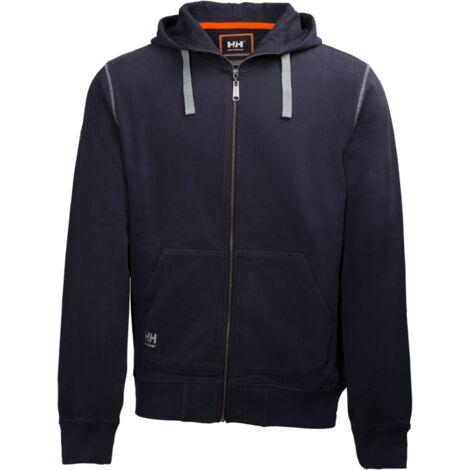 Sudadera con capucha de algodón Oxford Fz Hoodie Helly Hansen 79028   L - Azul navy