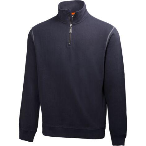 Sudadera de algodón con cremallera Oxford Hz Sweater HellyHansen 79027   3XL - Azul navy