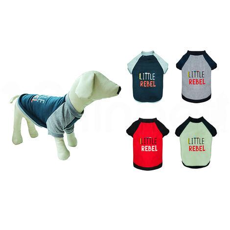 Sudadera para Perro Little Rebel, Varios Tamaños y Colores - Talla: XL, Rojo