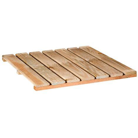 Suelo de madera de Pino para exterior 100x100 cm / 44 mm - 30 Ud
