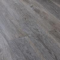Suelo de vinilo (0,975 m² - roble - gris mate finlandés) planchas - tablas - suelo laminado