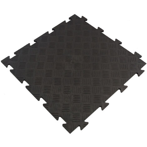"main image of ""Suelo exterior de caucho de 48,3x48,3 cm. Superficie 0,23m² Colección TENAX – Rombo"""