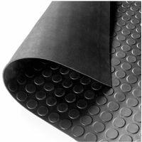 Suelo Goma Círculo Negro - Rollo 3 mm 15 x 1,20 m
