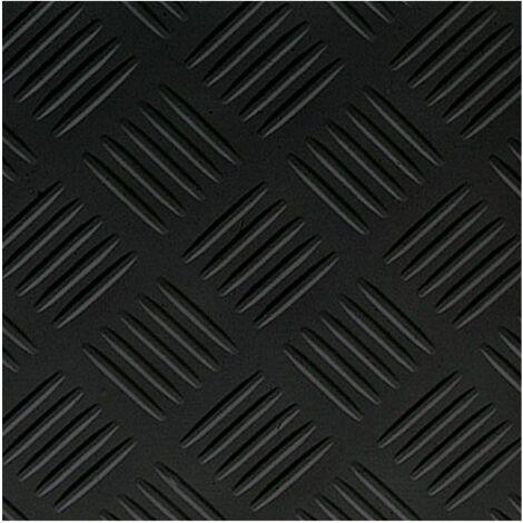 Suelo Vinilico PVC Checker Negro