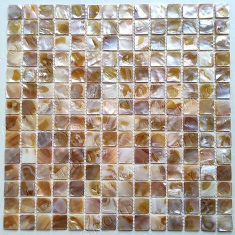Suelo y paredes mosaico de nácar Nacarat Naturel